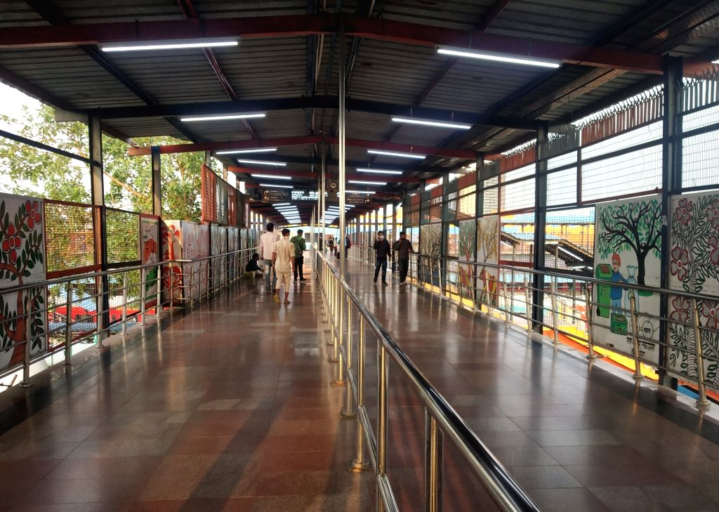The New Delhi Railway Station bears a deserted look amid restrictions imposed in the wake of increasing cases of COVID-19 (coronavirus), on March 21, 2020.