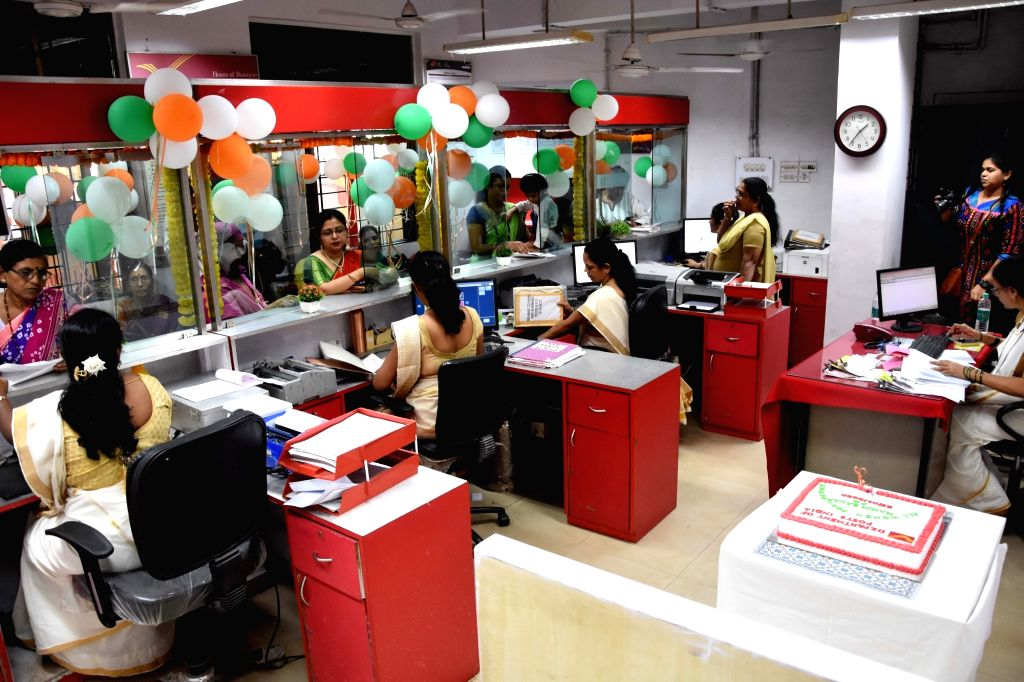 The newly inaugurated all-women post office at Mahim Bazar in Mumbai on Jan 25, 2020.
