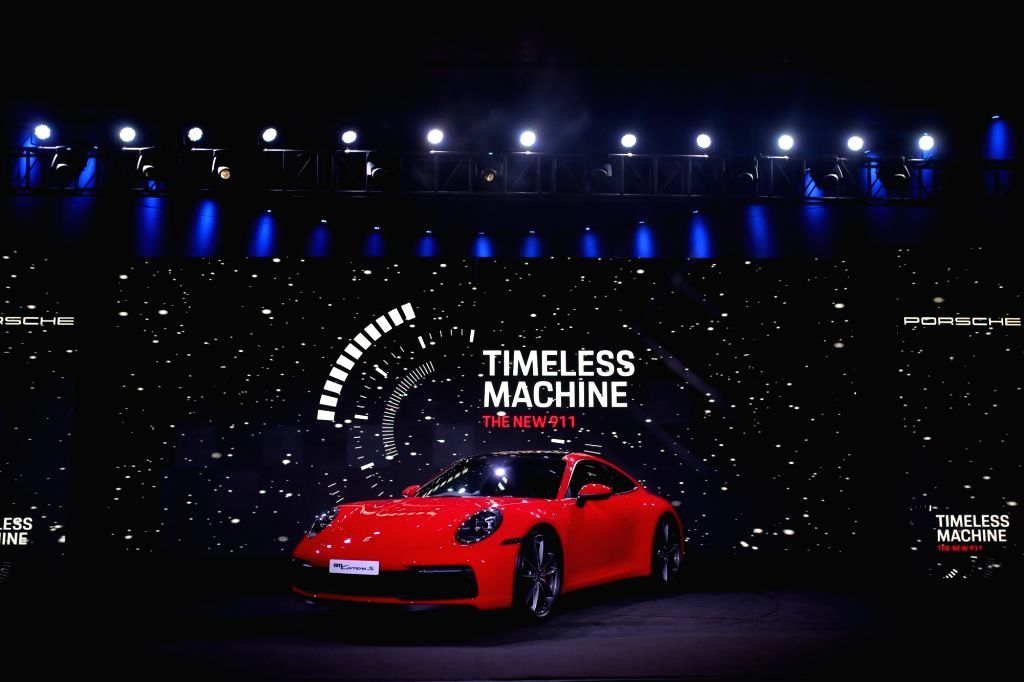 The newly launched eighth generation of Porsche 911 is on display, in New Delhi on Sep 8, 2019.