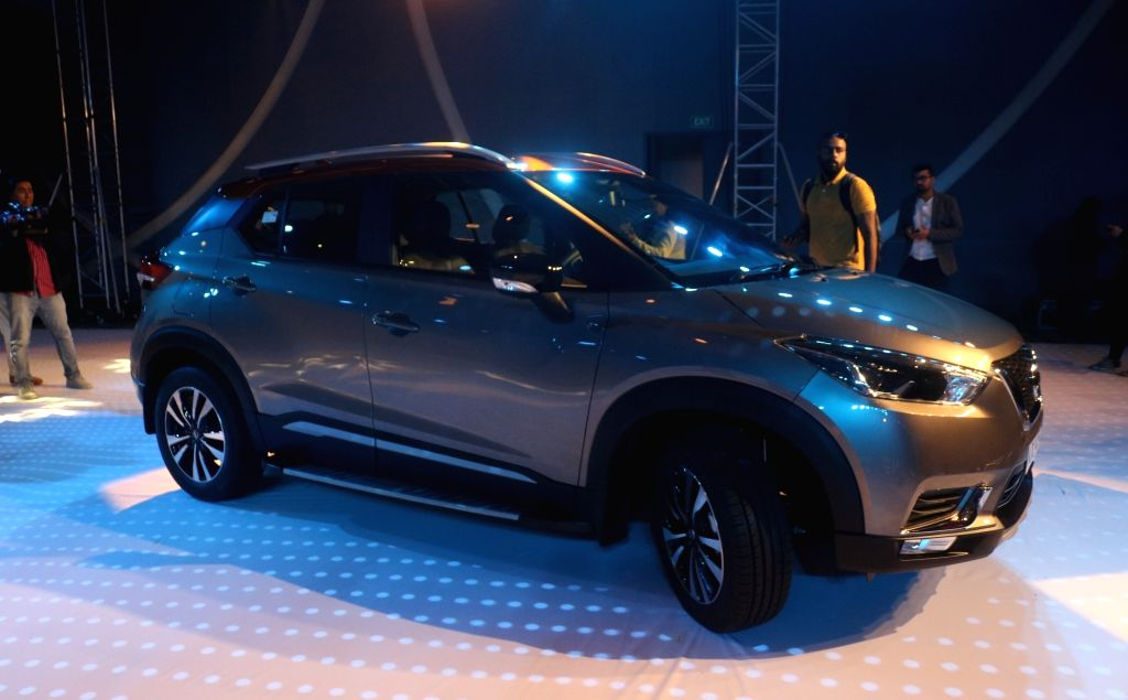 The newly launched Nissan Kicks SUV in New Delhi, on Jan 22, 2019.