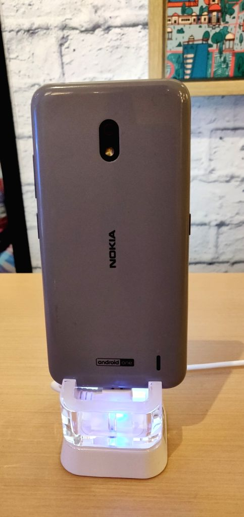 The newly launched Nokia 2.2 smartphone on display, in New Delhi on June 6, 2019.