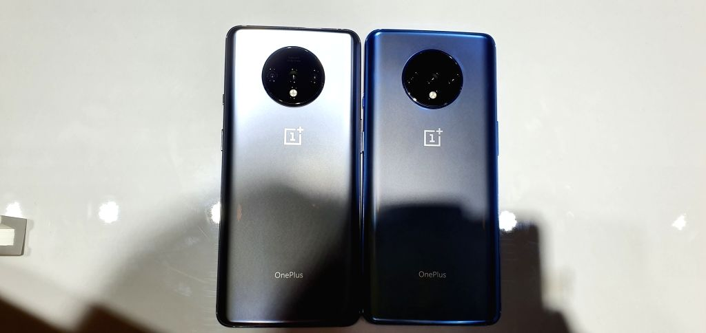 The newly launched OnePlus 7T in New Delhi on Sep 26, 2019.