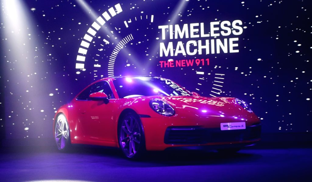 The newly launched Porsche 911 in New Delhi on Sep 7, 2019.