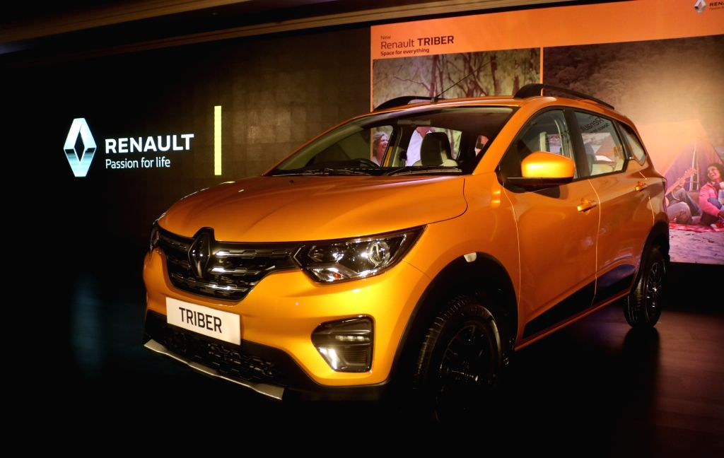 The newly launched Renault Triber on display in New Delhi on Aug 28, 2019.