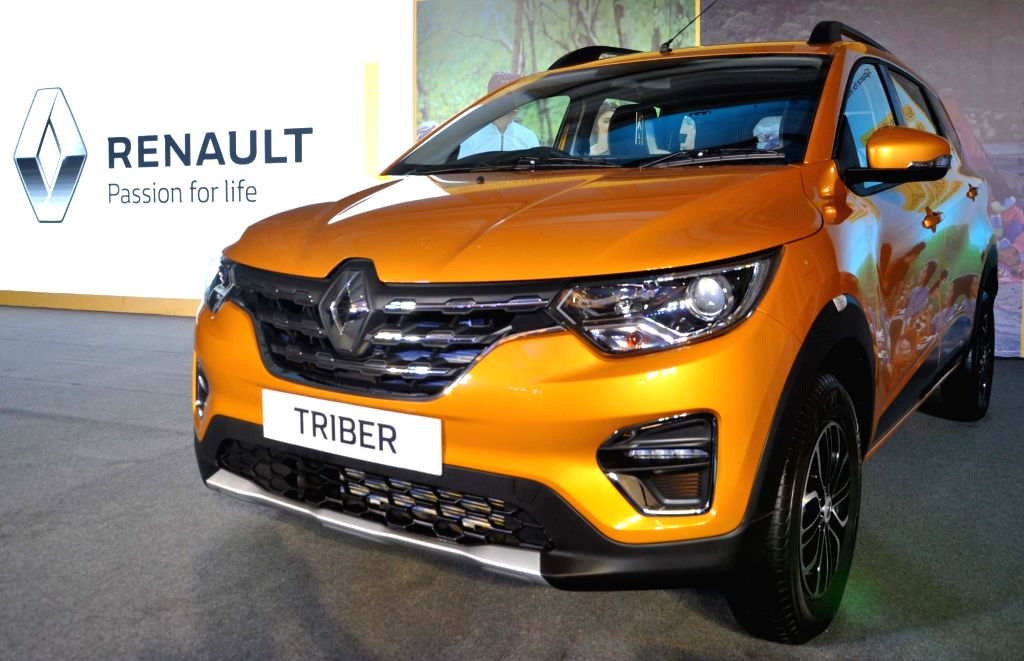 The newly launched Renault Triber on display, in Kolkata on Aug 29, 2019.
