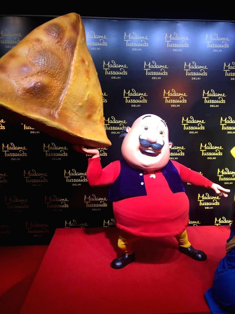 "The newly launched wax statue of cartoon character 'Motu' from the Indian animated sitcom television series ""Motu Patlu"", at Madame Tussauds museum in New Delhi on June 4, 2019."