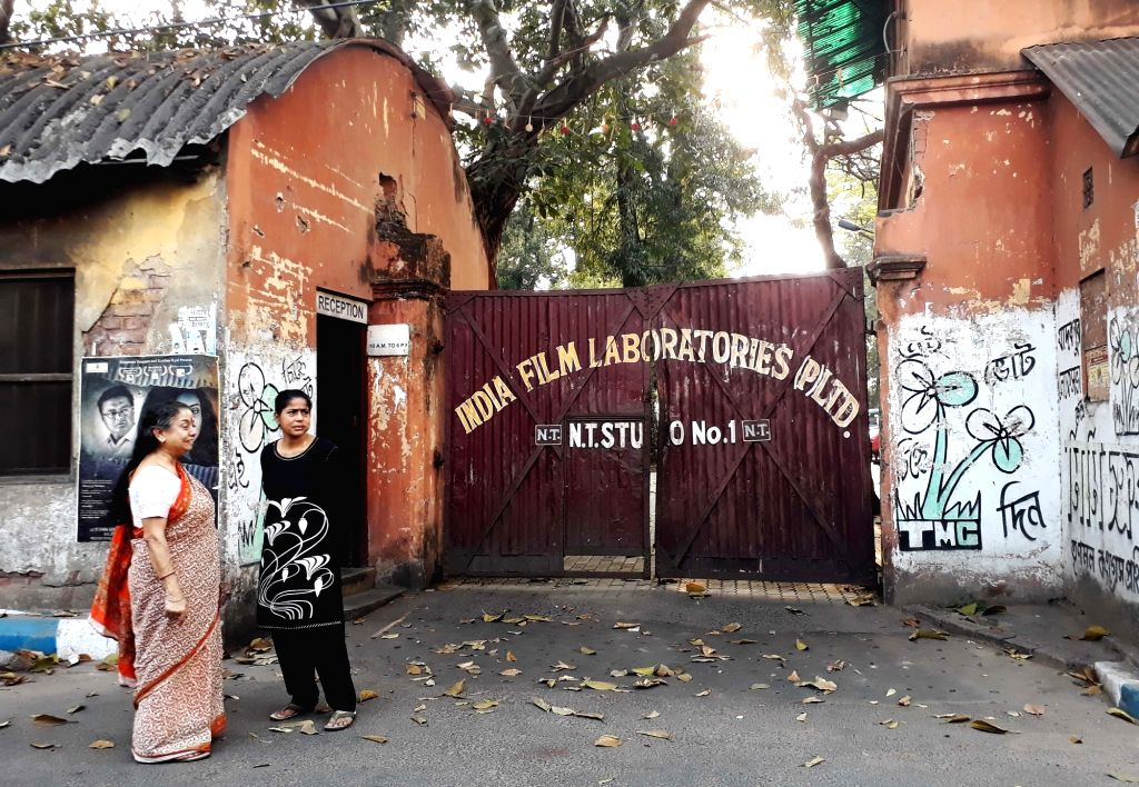 The office of India Film Laboratories bears a deserted look amid COVID-19 (cornavirus) pandemic, in Kolkata on March 18, 2020.
