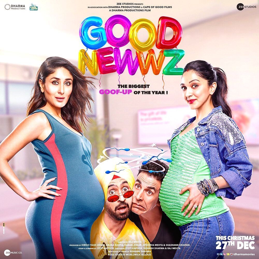 "The official posters of the most awaited film of this year, ""Good Newwz"", have been unveiled finally, taking the curiosity level around the movie a few notches higher. In a poster, Akshay ... - Akshay Kumar, Kareena Kapoor and Kiara Advani"