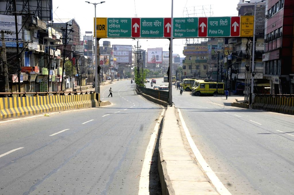 The Old Bypass bears a deserted look on Day 2 of the 21-day nationwide lockdown imposed by the Narendra Modi government over the coronavirus pandemic; in Patna on March 26, 2020. - Narendra Modi