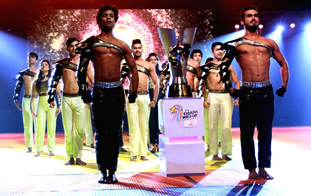 The opening ceremony of 2016 Kabaddi World Cup underway in Ahmedabad on Oct 7, 2016.