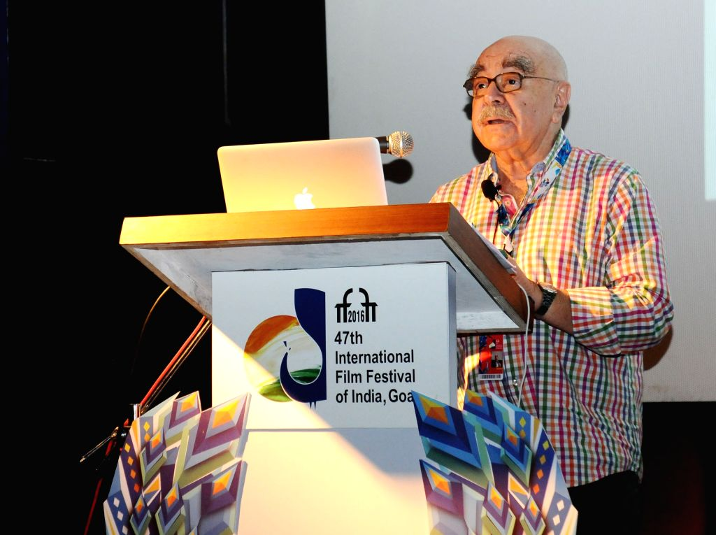 The Oscar winning Editor, Hollywood, Alan Heim at the Master Class on Film Editing, during the 47th International Film Festival of India (IFFI-2016), in Panaji, Goa on Nov 27, 2016.