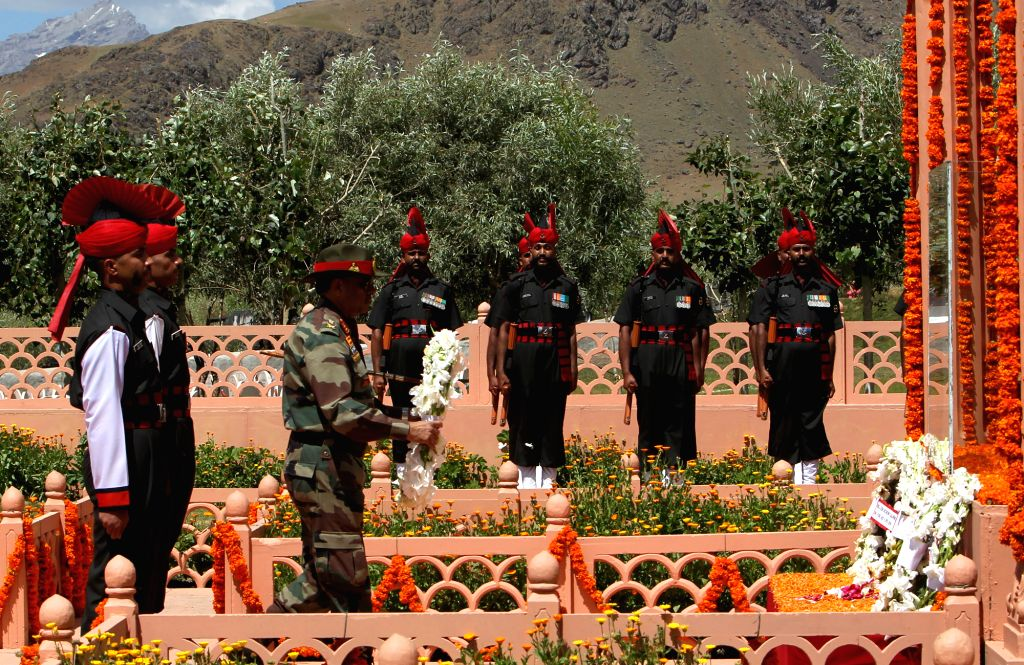 The Pakistani bullets were raining heavily from the Tololing peak but the brave soldiers of 2 Rajputana Rifles had a determined pledge of evicting the intruders as they moved up the mountain in Kargil during the war in 1999. (Photo: IANS)