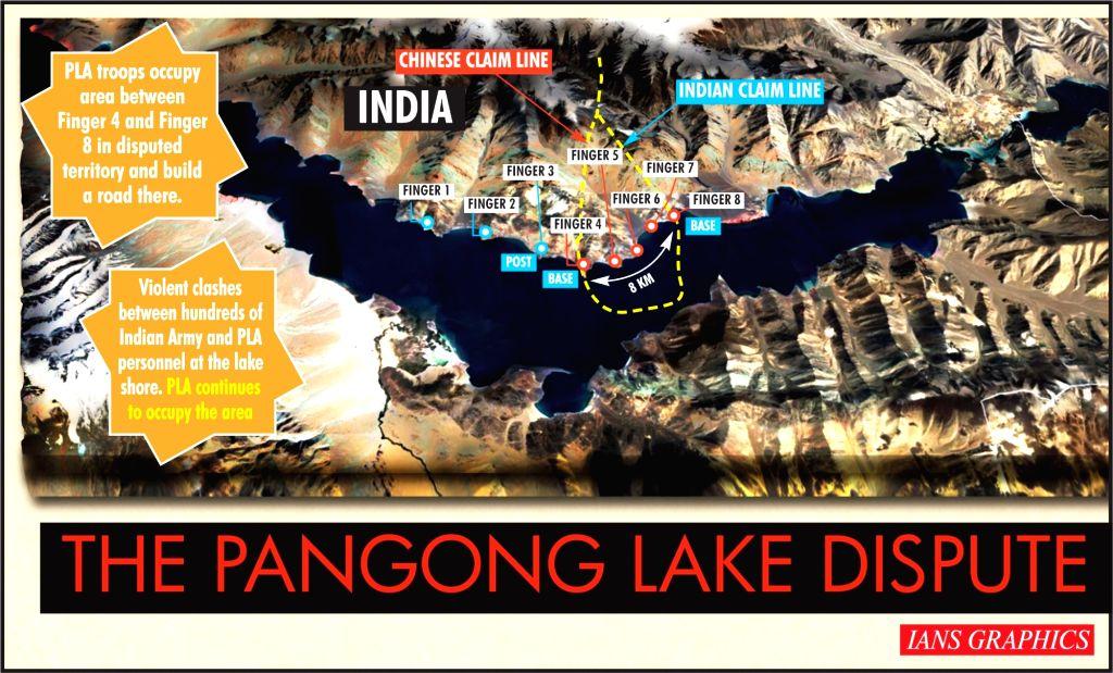 The Pangong Lake dispute. (IANS Infographics)