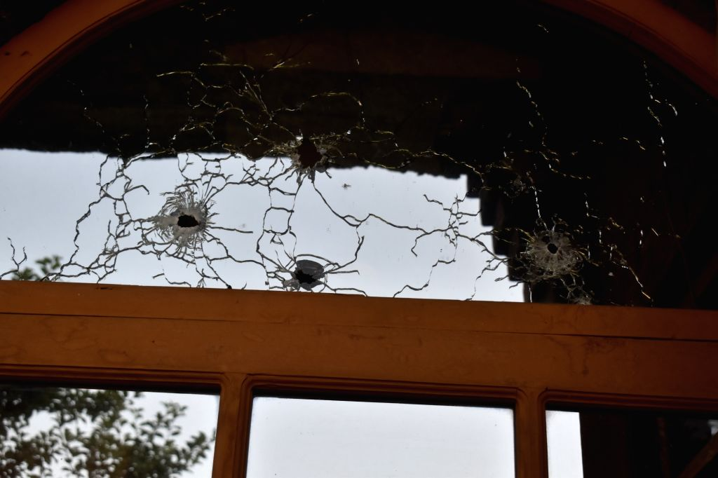 The part of the house of a local that got damaged An encounter has started between terrorists and the security forces at Malbagh in Srinagar on Thursday night. One terrorist was killed and ...