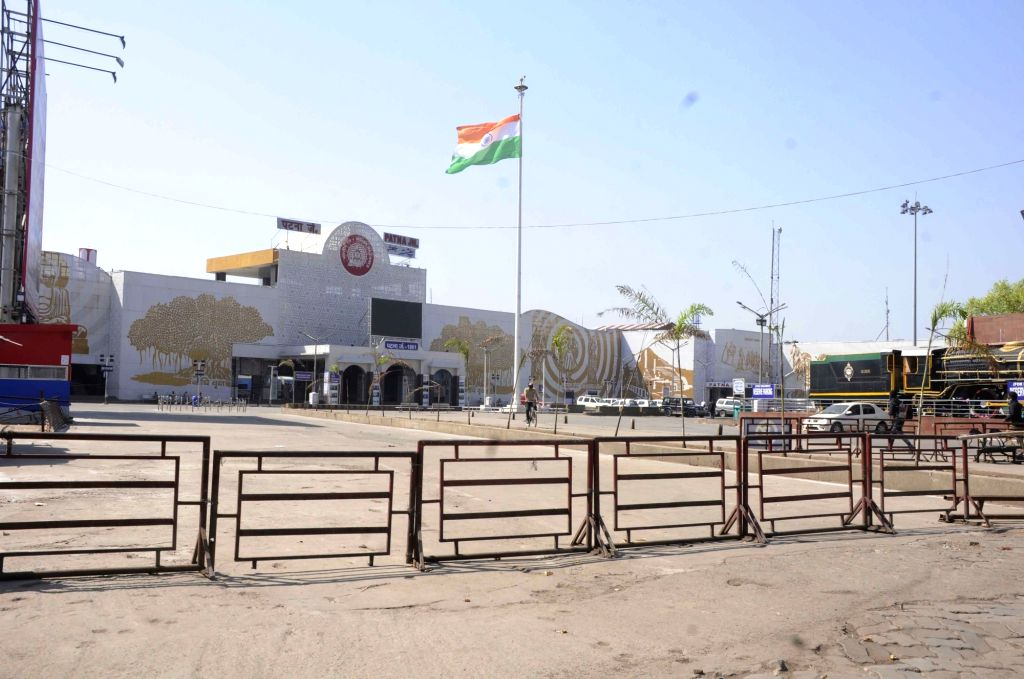 The Patna Junction Railway Station bears a deserted look on Day 2 of the 21-day nationwide lockdown imposed by the Narendra Modi government over the coronavirus pandemic; on March 26, 2020. - Narendra Modi