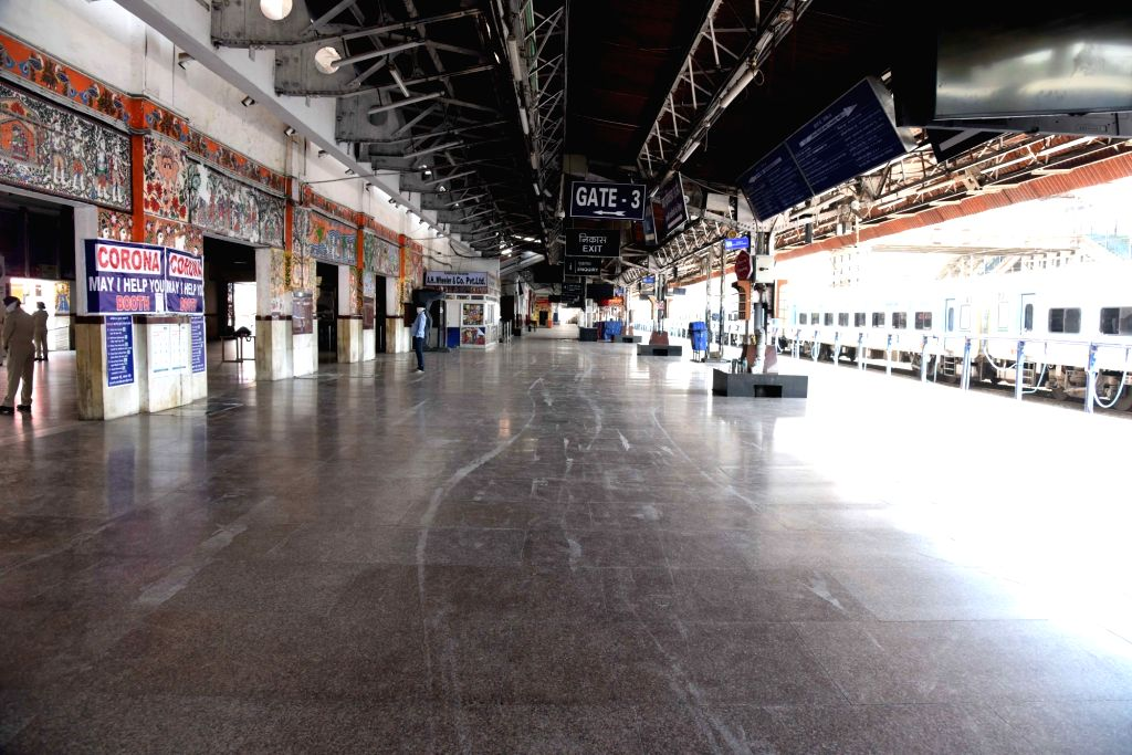 The Patna Junction Railway Station bears a deserted look on Day 5 of the 21-day countrywide lockdown imposed to contain the spread of novel coronavirus, on March 29, 2020.