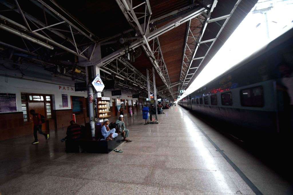 The Patna Junction railway station bears a deserted look amid COVID-19 pandemic, on March 21, 2020.