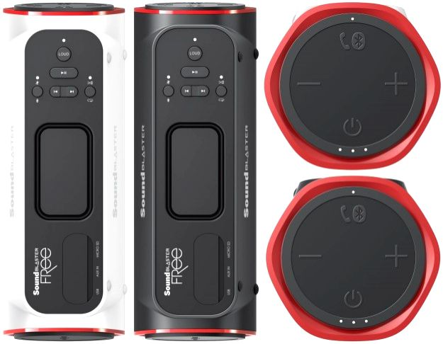 The picture shows the new Sound Blaster Free Bluetooth speaker launched at a price of Rs.7,999.