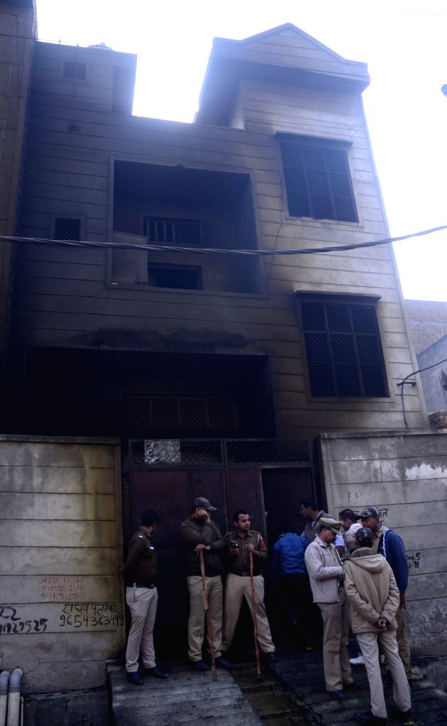 The plastic factory warehouse, which was also used to store firecrackers where a major fire broke out on Saturday evening. As many as 17 persons, including 10 women, were burnt to death or ...