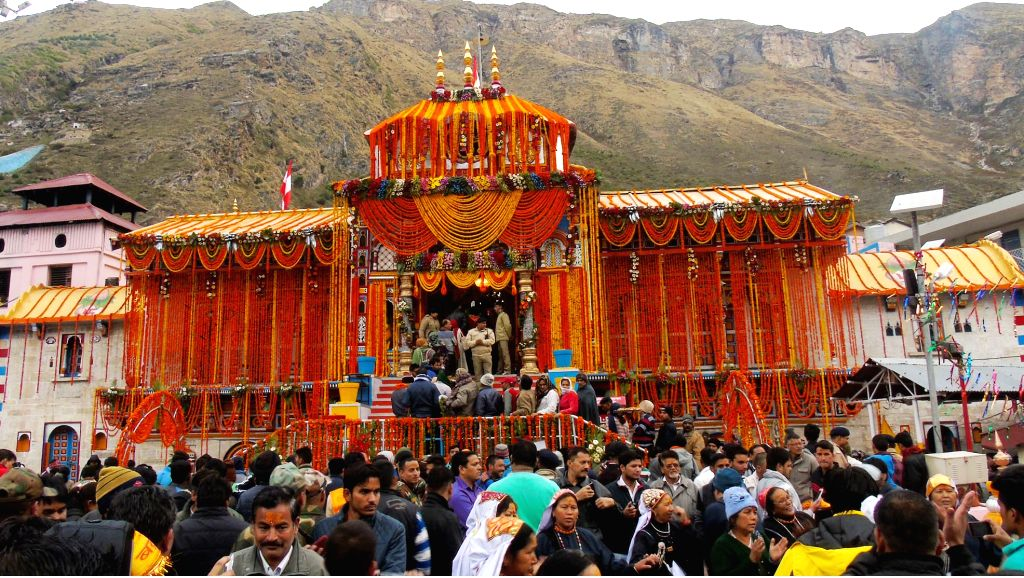 The portals of Badrinath shrine thrown open for devotees in Chamoli district of Uttarakhand on May 11, 2016.