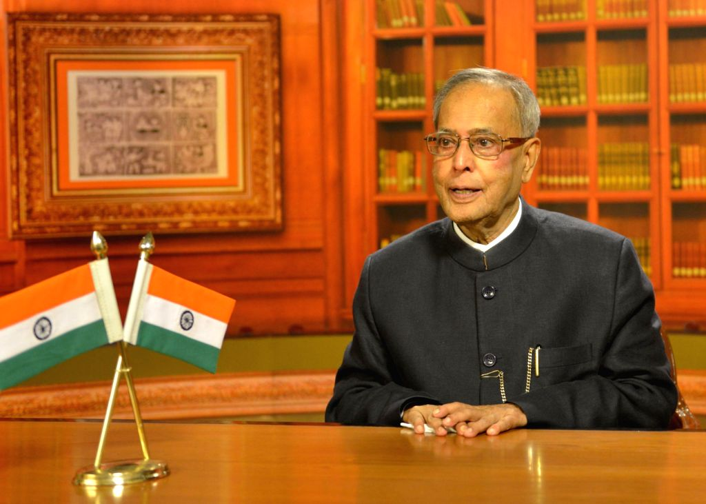 The President of India Shri Pranab Mukherjee addressing the Nation on 14th August 2013 on the eve of India 67th Independence Day - Shri Pranab Mukherjee