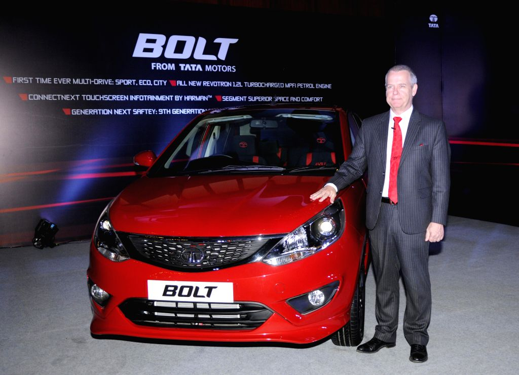 The president of Tata Motors' Engineering Research Centre (advanced and product engineering) at the launch of `Bolt` in Kolkata, on Jan 22, 2015.