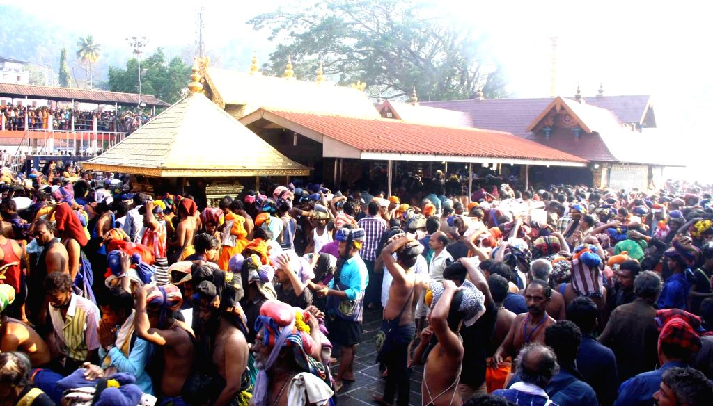 The Rashtriya Swayamsewak Sangh (RSS) on Sunday urged Ayyappa devotees in Kerala to continue their struggle to save the Sabarimala temple traditions and sought the country's support in protecting the beliefs of the Hindu society. (Photo: IANS)