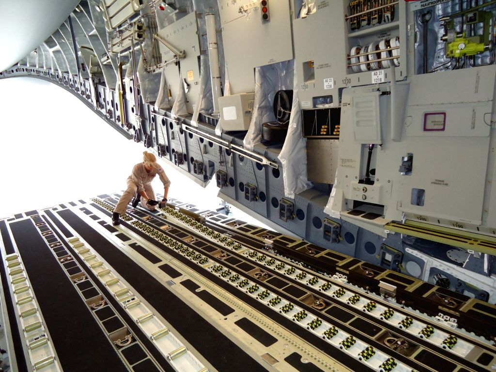 The rear ramp of the Boeing C-17. (Photo: India Strategic).