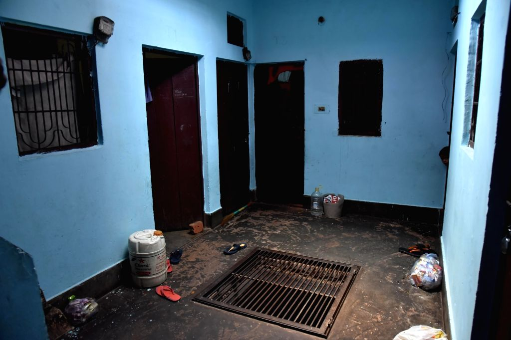 The residence of a 30-year-old woman who committed suicide with her two children by jumping in front of a train in East Delhi's Mandawali area on July 2, 2020. The woman and her two ...