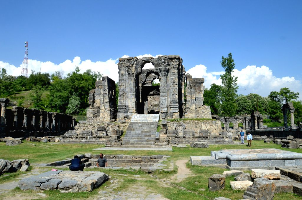 The ruins of Martand Sun Temple at Kherbal village in Anantnag district of Jammu and Kashmir. The temple is said to be built by the third ruler of the Karkota Dynasty, Lalitaditya Muktapida, in the ...