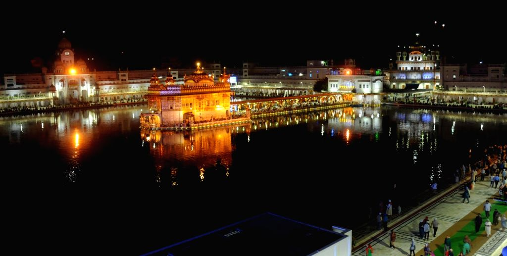 The SGPC didn`t illuminate Golden Temple on occasion of Gurpurab of Guru Ram Das due to incessant incidents of desecration of Guru Granth Sahib in Amritsar, on Oct 28, 2015.