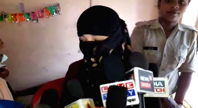 The Shahjahanpur girl, who released a video on August 23, accusing former BJP Union Minister Swami Chinamayanand of sexual harassment talks to press in Shahjahanpur on Sep 9, 2019. - Swami Chinamayanand