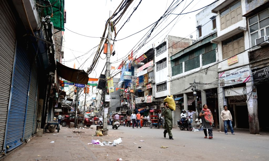 The shops at Sadar Bazaar market remain closed ahead of Sunday's nationwide 'Janata Curfew' imposed in the wake of increasing number of cases of COVID-19 (coronavirus), in New Delhi on ...