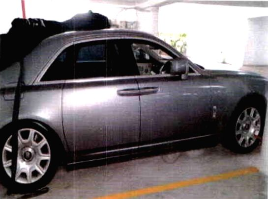 The silver Rolls Royce, one of the thirteen luxury cars owned by fugitive diamantaires Nirav Modi and his uncle Mehul Choksi that went on online auction by the Metals and Scrap Trading ... - Nirav Modi