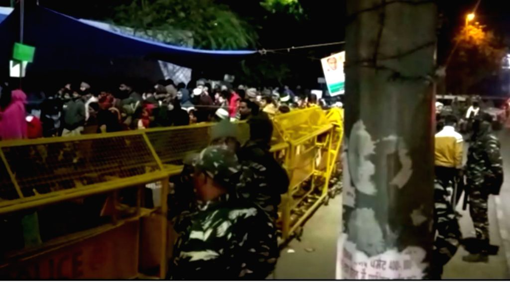 The site at Delhi's Nizamuddin area where around 500 people have gathered, set up tents and are camping here since Sunday, to protest against the Citizenship Amendment Act (CAA) 2019, ...
