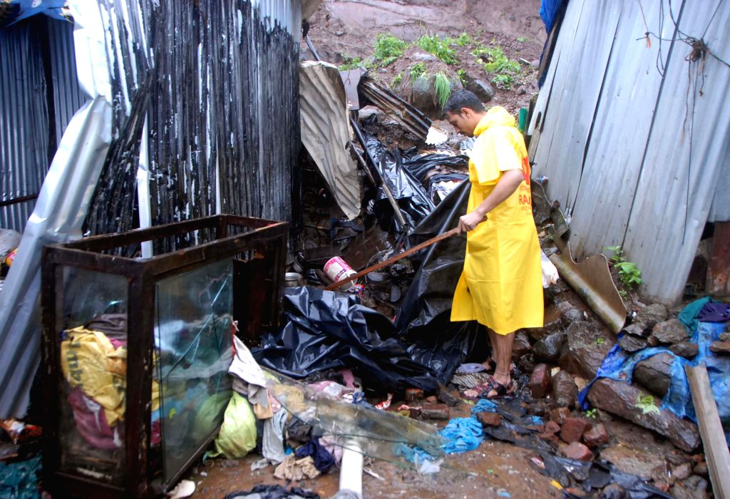 The site in Ashok Nagar of Chembur a suburb of Mumbai where a child was killed in a landslide on July 31, 2014.