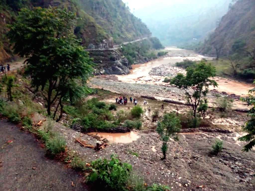 The site where a cloud burst occurred in Uttarakhand's Lambagad village in Gairsain in Chamoli district, on June 2, 2019.