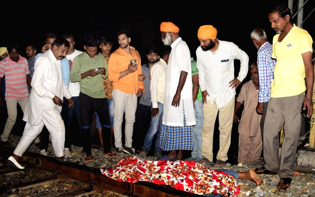 The site where at least 50 people glued to watching a burning Ravan effigy while standing on railway tracks were crushed by a speeding train in Amritsar on Oct 19, 2018.