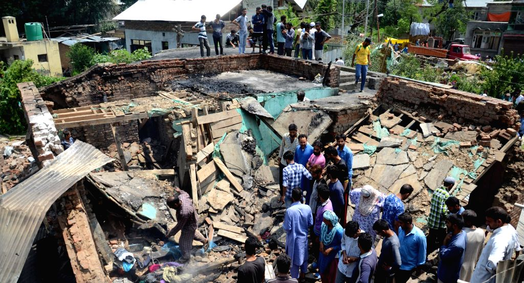 The site where security forces killed a top Pakistani militant who carried a reward of Rs 15 lakh on his head when he went to visit his Indian wife in a village in Jammu and Kashmir's ...