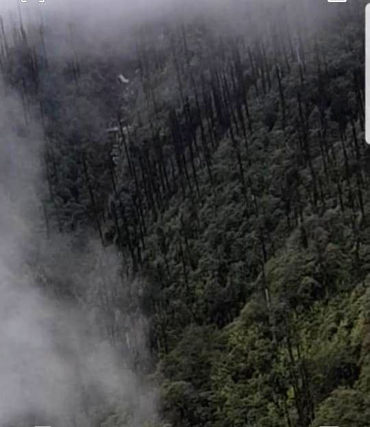 The site where the wreckage of the AN-32 aircraft which went missing in Arunachal Pradesh on June 3 with 13 people onboard, was spotted at Lipo, northeast of Tato in Arunachal Pradesh, on June ...