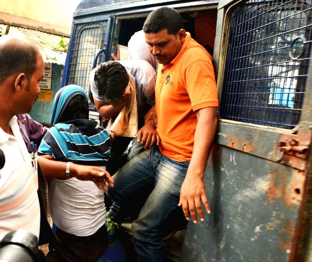 The six persons who were arrested for trespass and intimidation after entering the house of Netaji Subhas Chandra Bose's grand nephew and Trinamool Congress MP Sugato Bose being taken to be ... - Sugato Bose