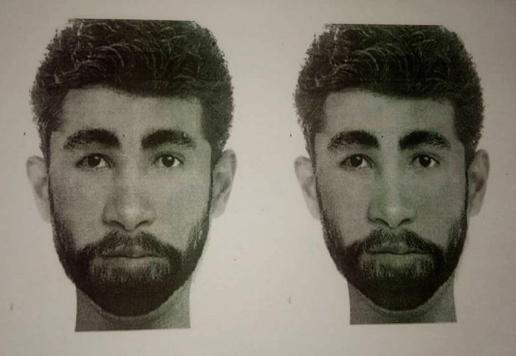 The sketch of one of the accused in Gurugram gangrape case released by police on Gurugram on May 15, 2017. (Ph0to IANS)