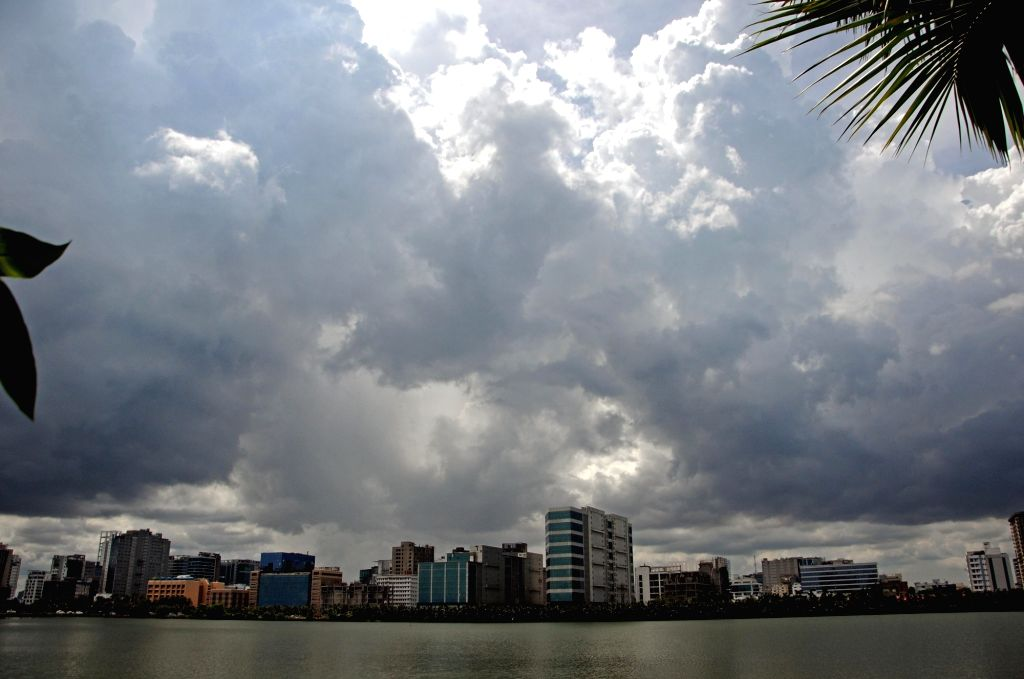 The sky is blocked by thick clouds in Kolkata on the evening of September 13, 2020.