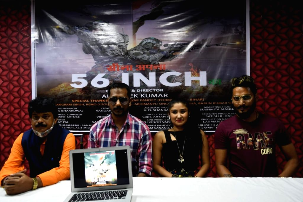 The song 'Sina Apna 56 Inch' launched, also features former DGP Gupteshwar Pandey. - Gupteshwar Pandey