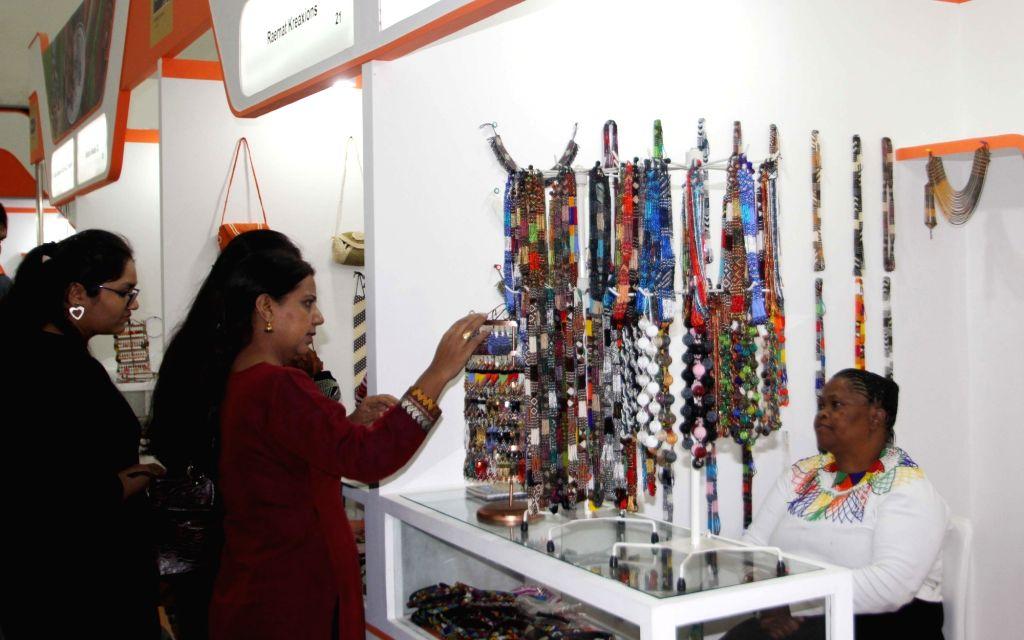 The South African pavilion at the 35th India International Trade Fair (IITF) 2015, Pragati Maidan in New Delhi, on Nov 14, 2015.