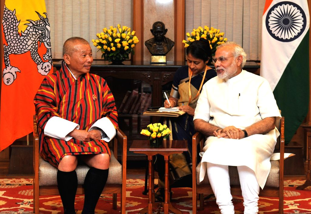 The Speaker of the National Assembly of the Parliament of Bhutan Jigme Zangpo calls on the Prime Minister Narendra Modi, in New Delhi, on Aug 10, 2015. - Narendra Modi