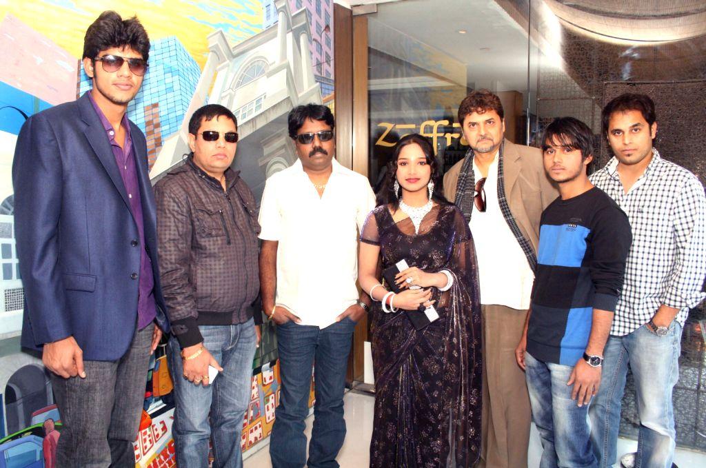 "The star cast of film ""Aaj Ki Freedom"", at a press conference at Zaffran, in New Delhi .(Photo:IANS/Amlan)"