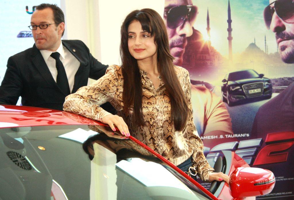 The star cast of film Race 2,  Ameesha Patel at the Audi Showroom,in New Delhi.(Photo:IANS/Amlan) - Ameesha Patel