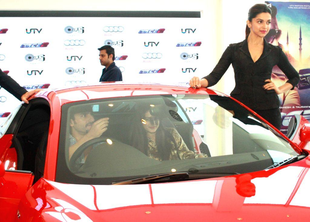 The star cast of film Race 2, Deepika Padukone at the Audi Showroom,in New Delhi.(Photo:IANS/Amlan) - Deepika Padukone