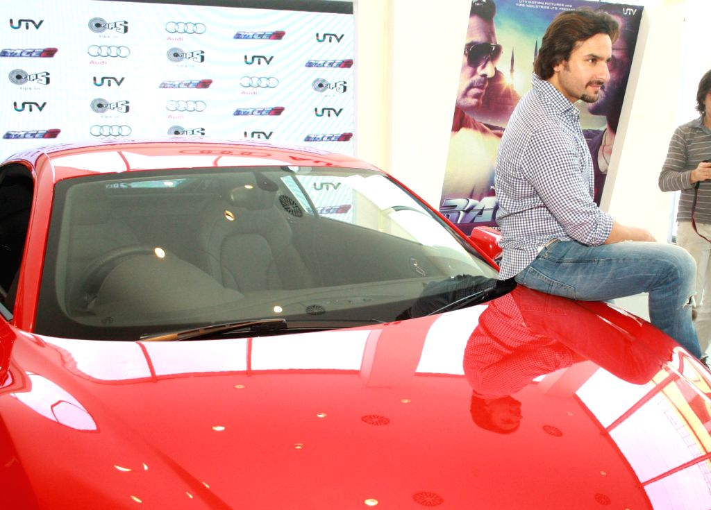 The star cast of film Race 2,  Saif Ali Khan at the Audi Showroom,in New Delhi.(Photo:IANS/Amlan) - Saif Ali Khan